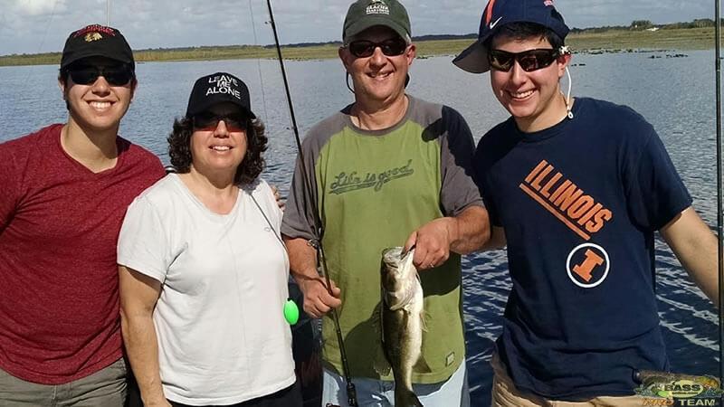 Lake toho family bass fishing trip orlando bass fishing for Lake toho fishing guides
